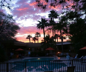 sky, sunset, and pool image