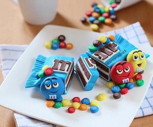 food, cake, and m&m image