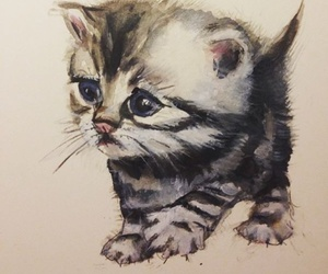 drawings, animal, and kittens image