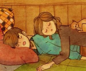 love, sleep, and cute image