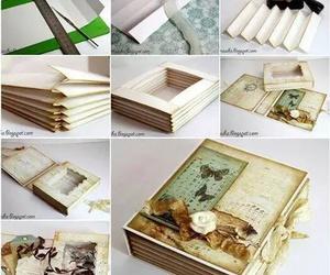 box, diy, and book image
