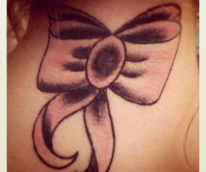 bow, pink, and tattoo image