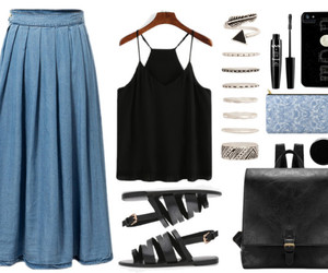 fashion, Polyvore, and spring outfit image
