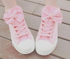 lou, pink, and shoes image