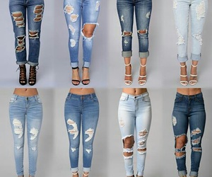 fashion, jeans, and moda image