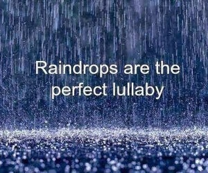 lullaby, rain, and quotes image