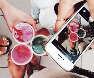 drink, summer, and friends image