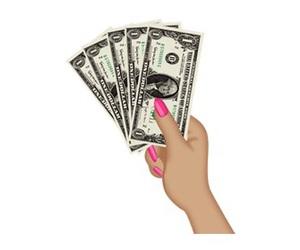 money, nails, and dollar image