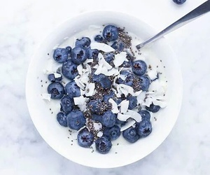 blueberry, food, and breakfast image