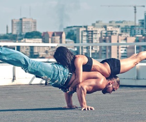couple, goals, and workout image