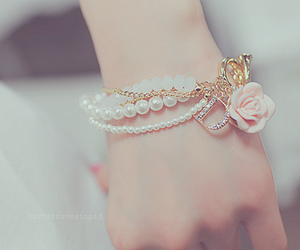 bracelet, rose, and pink image