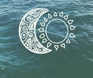 sun, moon, and white image