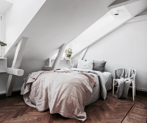bed, interior, and cozy image