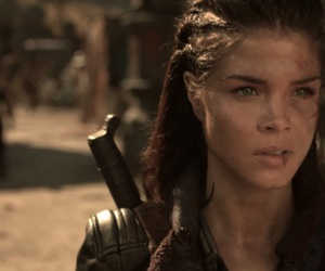 marie avgeropoulos, octavia blake, and the 100 image