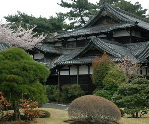 house, japanese, and japanese temple image