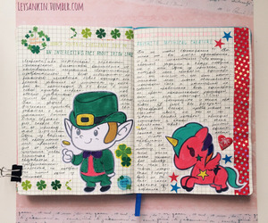 art journal, colorful, and creativity image