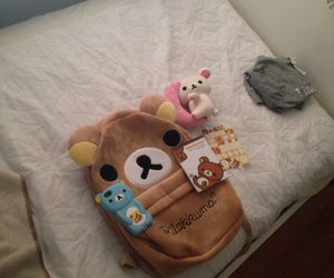 aesthetic, backpack, and bed image