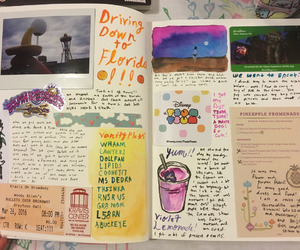 art journal, creativity, and colorful image