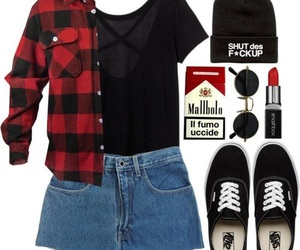 look, vans, and outfit image