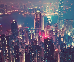 city nights, gun, and hong kong image