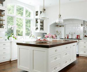 kitchen, house, and white image