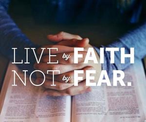 faith, god, and fear image