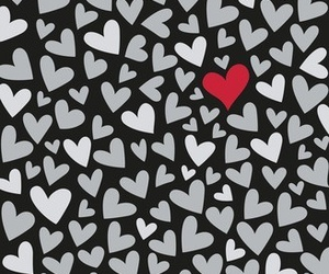 hearts, red, and love image