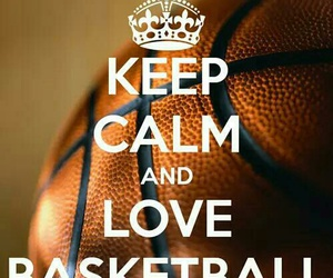 Basketball, keep calm, and sport image