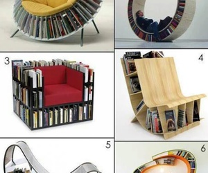 book, chair, and read image