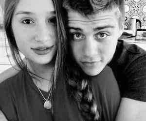 black and white, girlfriend, and boyfriend image