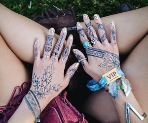 tatoo and coachella hippie boho image