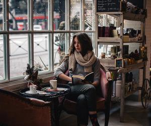 50mm, coffee, and girl image