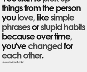 love, quote, and change image