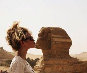 girl, egypt, and kiss image