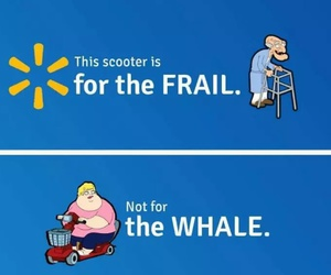frail, walmart, and scooter image