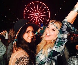 Nina Dobrev, coachella, and friends image