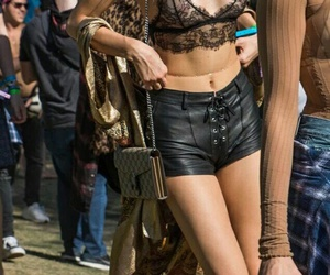 kendall jenner, coachella, and hailey baldwin image
