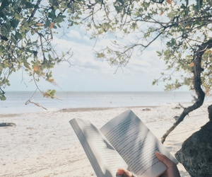 book, nature, and ocean image