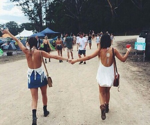summer, best friends, and festival image