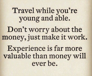 experience, money, and quote image