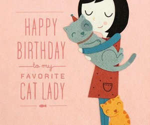 birthday and cat image