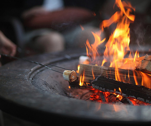 fire, photography, and marshmallow image