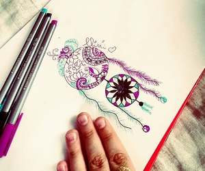 colors, cool, and dream catcher image