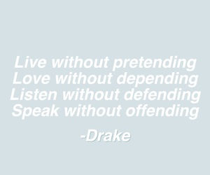 quote, Drake, and Lyrics image