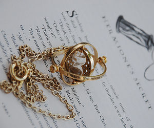 harry potter, time turner, and book image