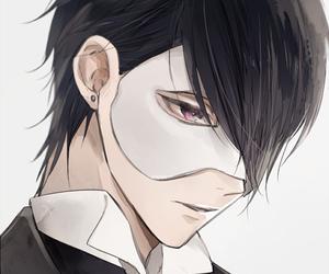anime, black, and bishounen image