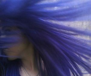 blue, hair, and blue hair image