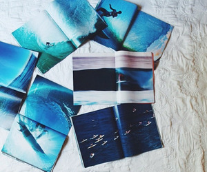 blue, book, and sea image