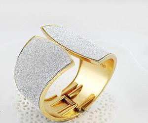 golden bow shape belt, trendy alloy rings, and arm cuff alloy bracelet image