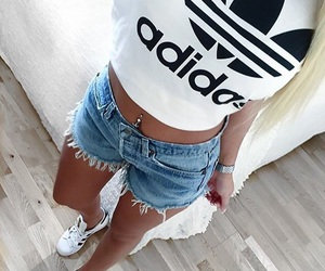 adidas, outfit, and shorts image